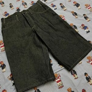 "Dickies Men's Black Wash Loose Fit 15"" Denim Work"